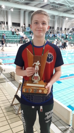 Charlie Hazell 200m Back Champion