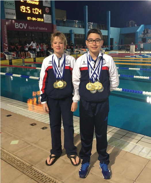 Jude and Edwin at ASA Easter International Meet 2018 in Malta