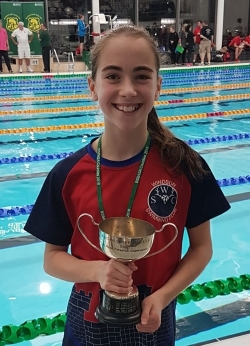 Matilda ODea 2018 Junior County Champion 50m Free
