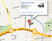 Magnet Leisure Centre map