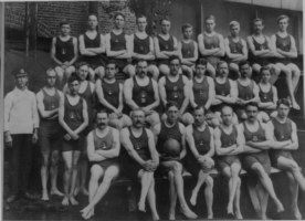 Black and white photo of club members in 1912